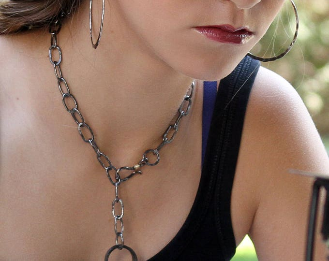 Black Rhodium Sterling Silver Chain Necklace
