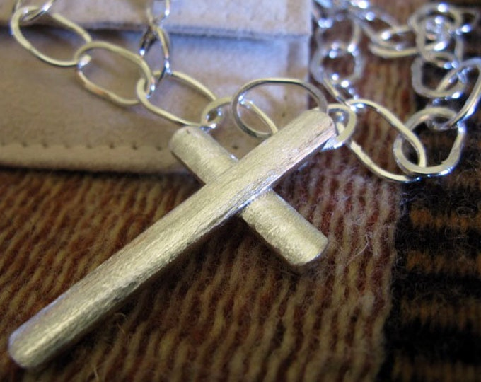 Sterling Silver Cross Necklace 20 Inches