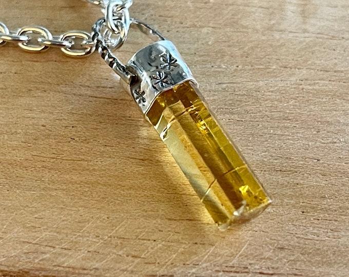 Heliodor Crystal Pendant