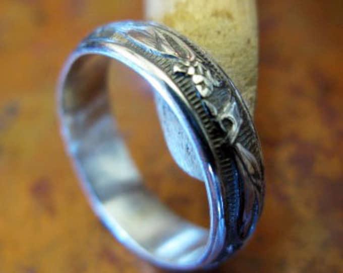 Sterling Silver Vintage Wedding Band 4.7mm