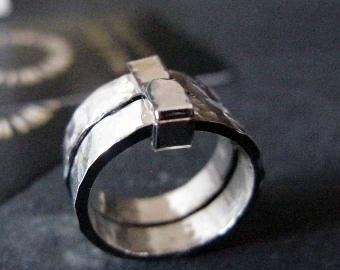 Double Band with Silver Seal