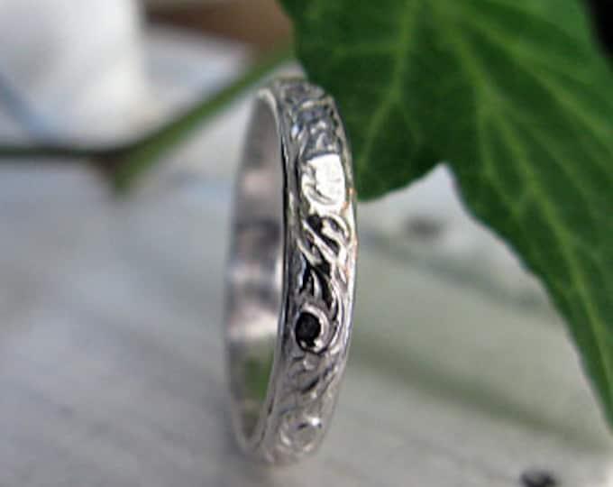 Size 6 Sterling Silver Vintage Wedding Band