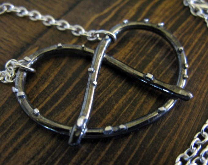 Solid Sterling Silver Pretzel Necklace