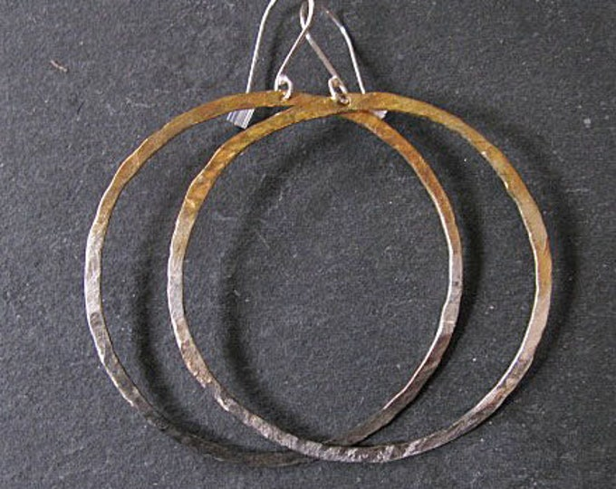 Sterling Silver 22K Gold Ombre Hoop Earrings
