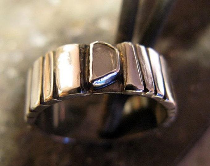 Genuine Diamond Slice Ring Size 10