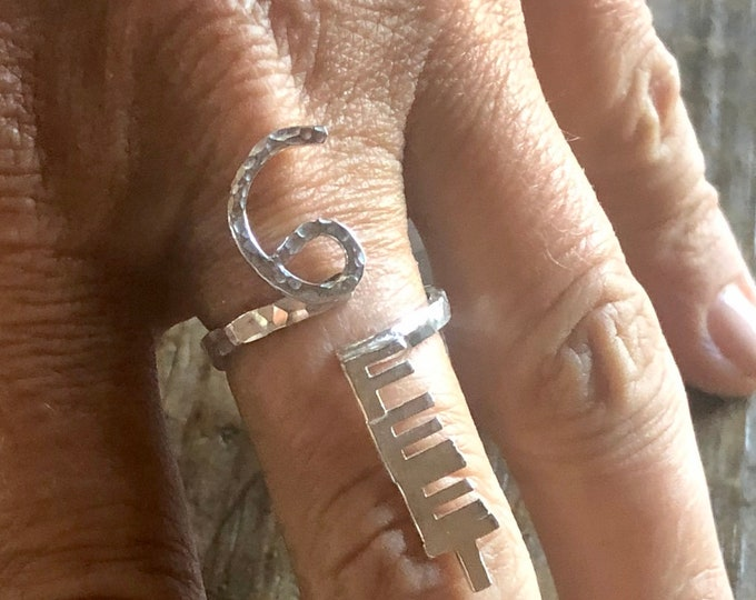 6 FEET Adjustable Ring Social Distancing Ring Social Distancing Jewelry Sterling Silver Hand Crafted OOAK Artisan Stay Safe
