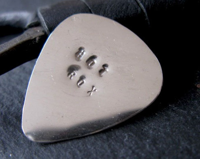 Sterling Silver Guitar Pick Handmade