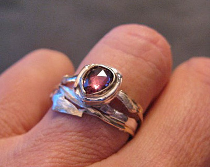 Pink Spinel Ring Set Size 6 3/4 - 7