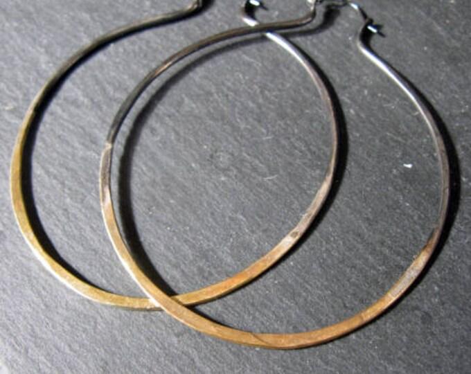Sterling Silver 22K Gold Boho Hoop Earrings