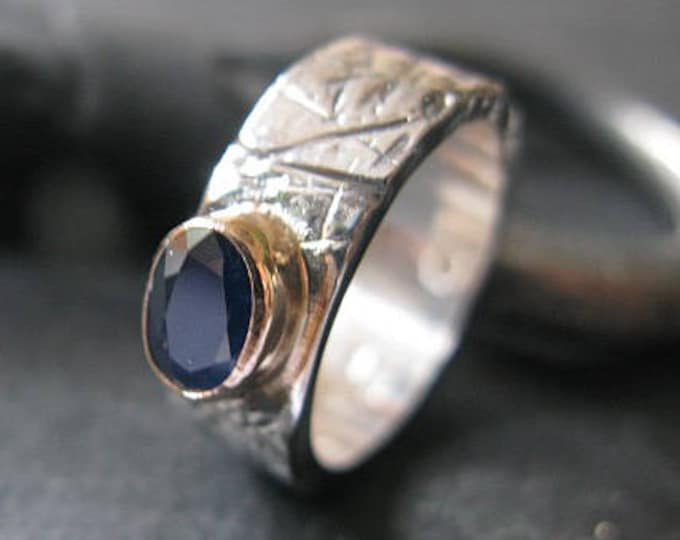 Blue Sapphire Ring Size 6 3/4