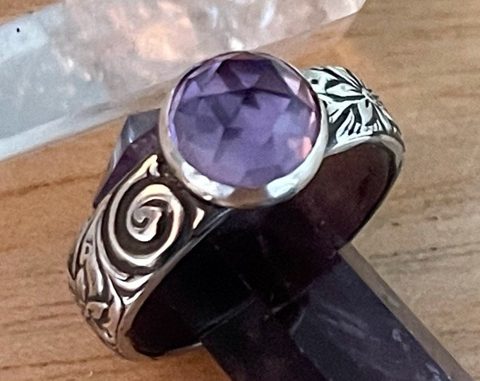 Vintage Style Amethyst Ring