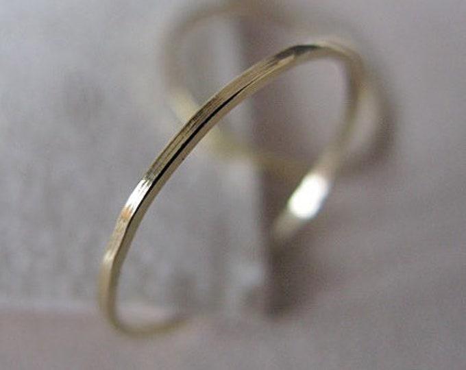 Skinny 18K Gold Ring Ladies Wedding Band Highly Polished Finish