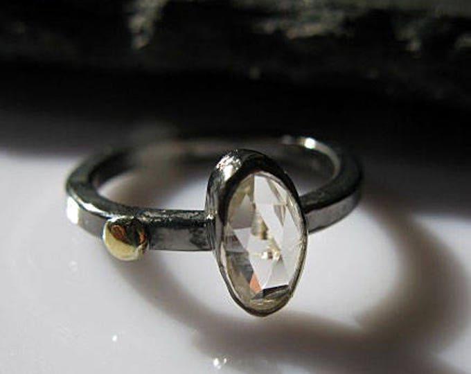 Size 6 1/4 White Zircon Stacking Ring Promise Ring