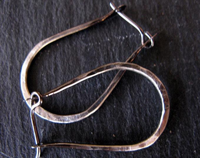 Black Ombre Hoop Earrings