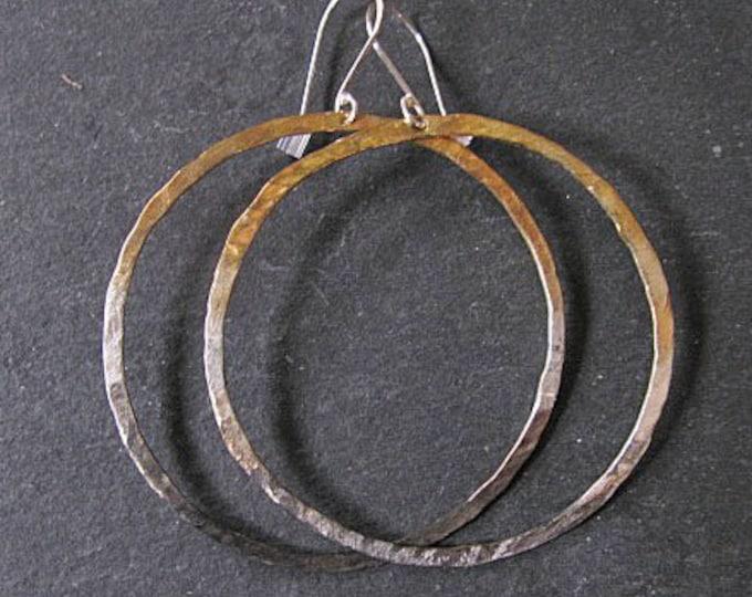 Sterling Silver 22K Gold Ombre Hoop Earrings