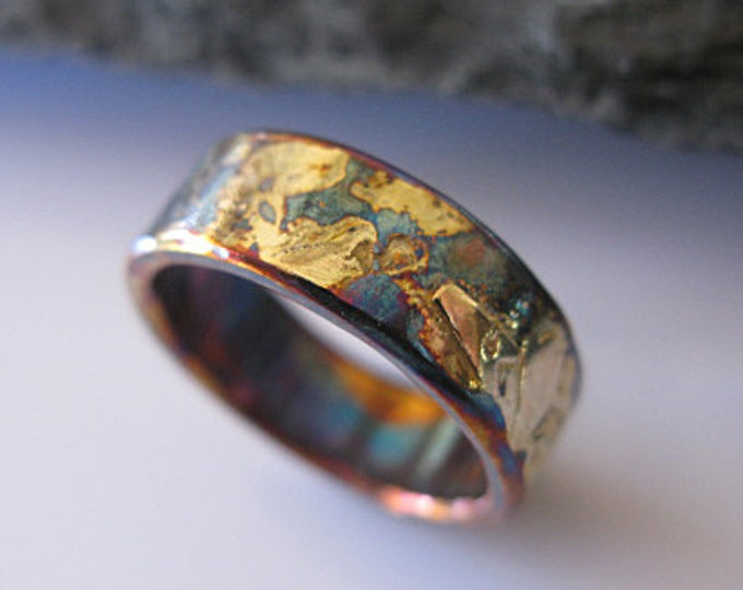 Rose Gold Sterling Silver Mixed Metal Ring