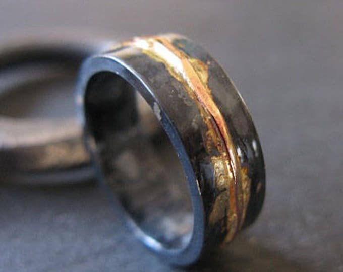 7mm 14K Rose Gold River Ring