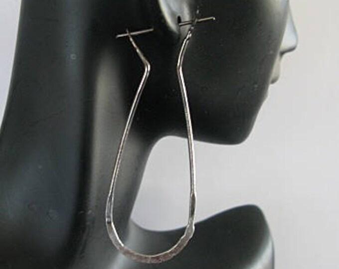 Fine Silver Ombre Hoop Earrings