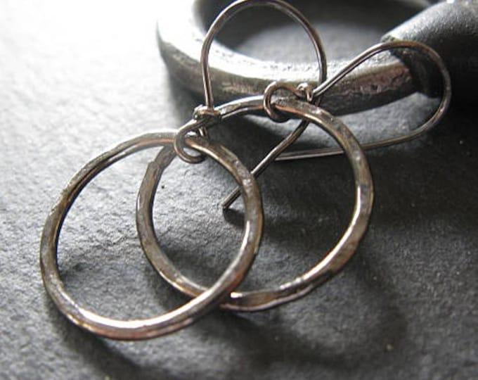 Small Black Hoop Earrings