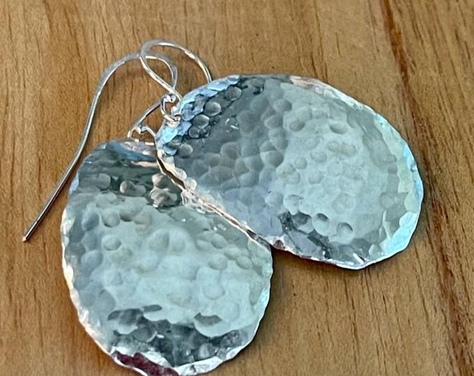 Sterling Silver Freeform Oval Earrings