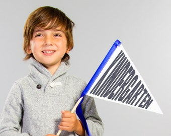 Kindergarten Sign Pennant Flag | 1st Day of School Sign | Elementary School 1st Grade 2nd Grade 3rd Grade Sign School Supplies 2083