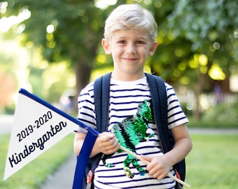 Back To School Sign 2021 - 2022 School Flag Kindergarten 1st Grade 2nd Grade 3rd Grade Pennant Flag | 1st Day of School Sign | 2088