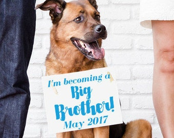 "Big Brother Sign ""I'm Becoming A Big Brother"" Due Date Month 