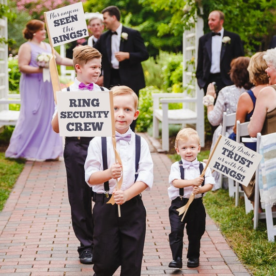 Wedding Ring SecurityRing Bearer Sign