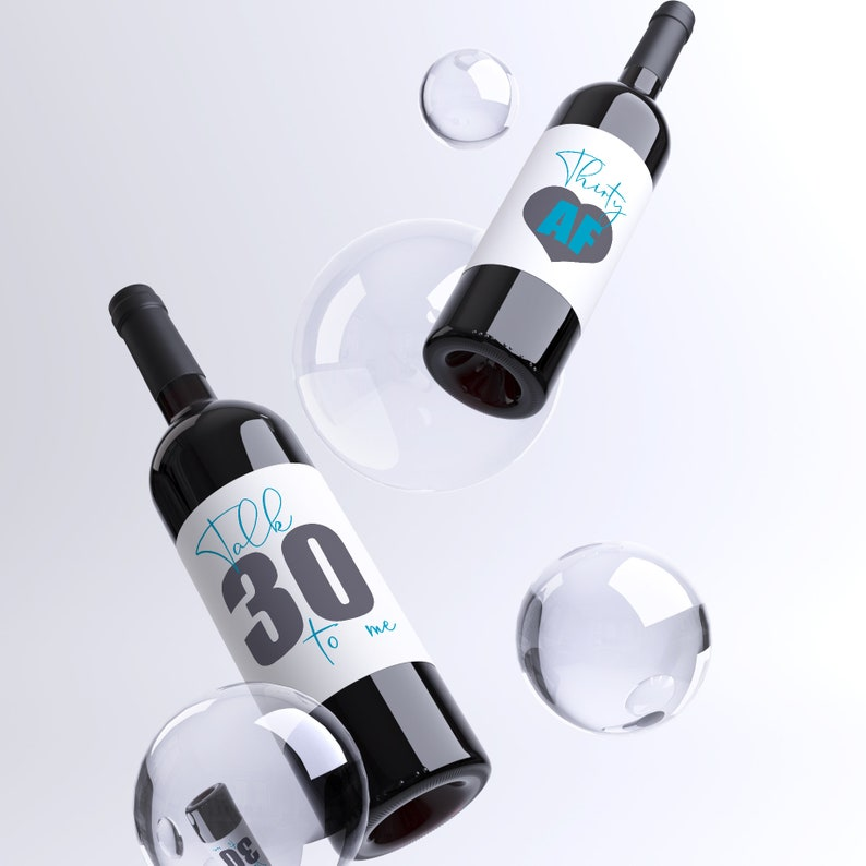 30th Birthday Party Wine Bottle Labels Pack Of 4 Funny Wine