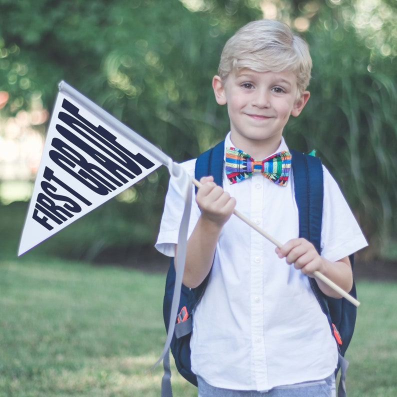 Back To School Sign Pennant Flag  1st Day of School Sign  image 0