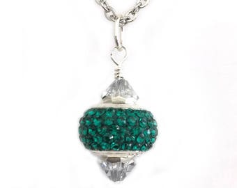 May Birthstone Necklace for Women Crystal Pendant