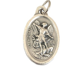 St Michael Pendant Guardian Angel Catholic Rosary Parts Medal