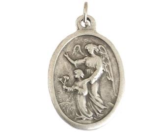 Box NEW DG Gift Inc CZ .925 Sterling Silver 32mm Prayer Angel Pendant