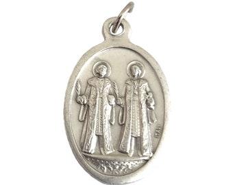 Saint Cosmas Saint Damian Medal Necklace