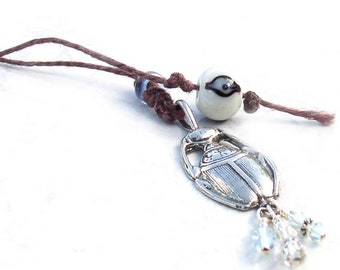 Sterling Silver Bookmark Scarab Evil Eye Book Thong Gift for Readers