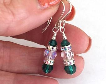 Swarovski Crystal Elf Earrings for Christmas