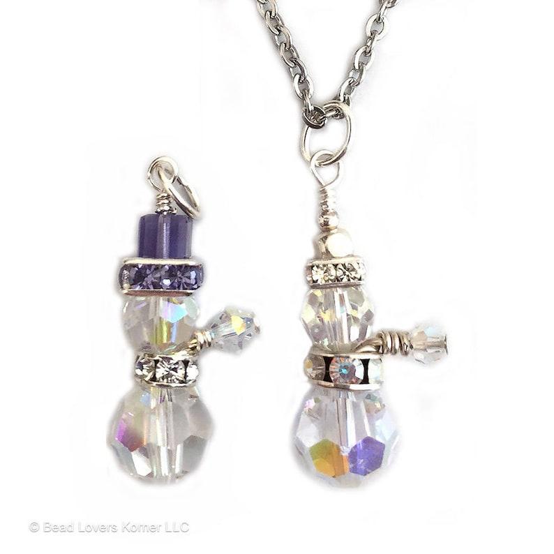 e40437d37da40 Swarovski Crystal Snowman Pendant Necklace