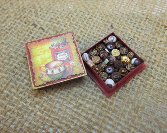 Miniature Box of Chocolates 12th Scale Polymer Clay