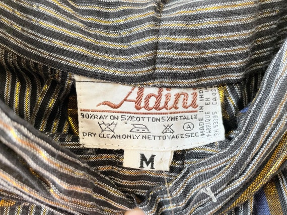 1970s Adini Metallic Striped Pants - image 7