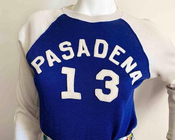 Vintage Rayon Pasadena Raglan Jersey Top