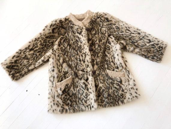 1980s Fuzzy Leopard Coat