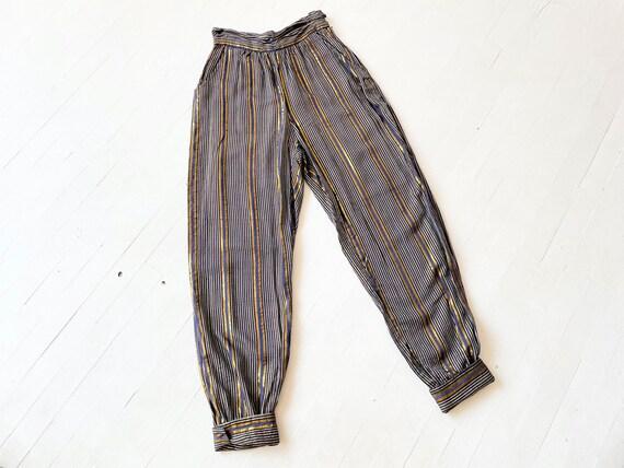 1970s Adini Metallic Striped Pants - image 8