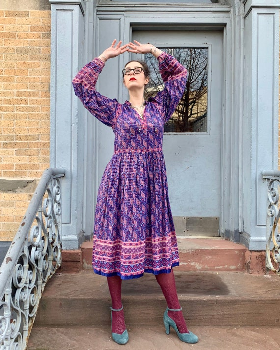 1980s Phool Indian Cotton Gauze Dress