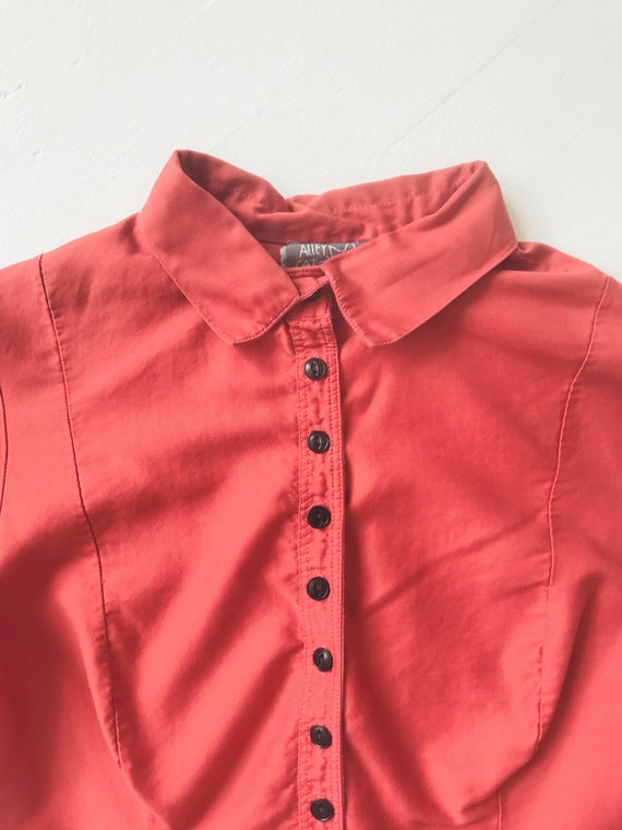 1970s Betsey Johnson Alley Cat Coral Shirt - image 2