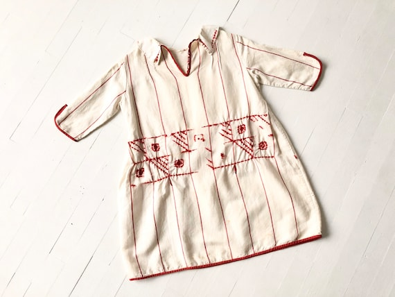 1920s Embroidered Linen Blouse