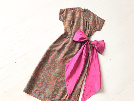 1950s Chinoiserie Big Bow Dress