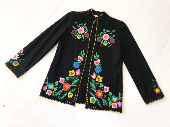 1970s Mexican Embroidered Wool Jacket