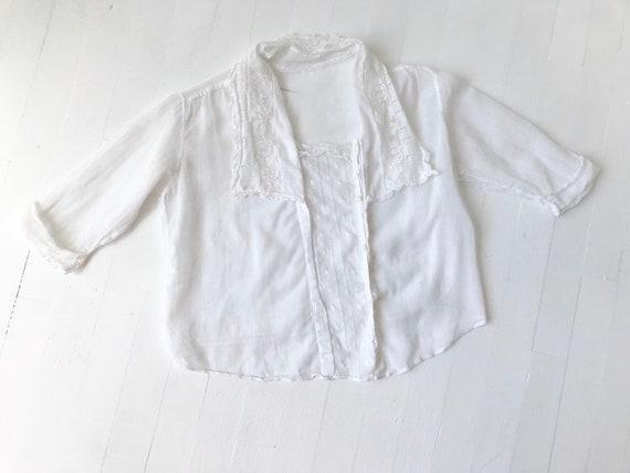 Antique Victorian White Cotton Lace Blouse - image 5