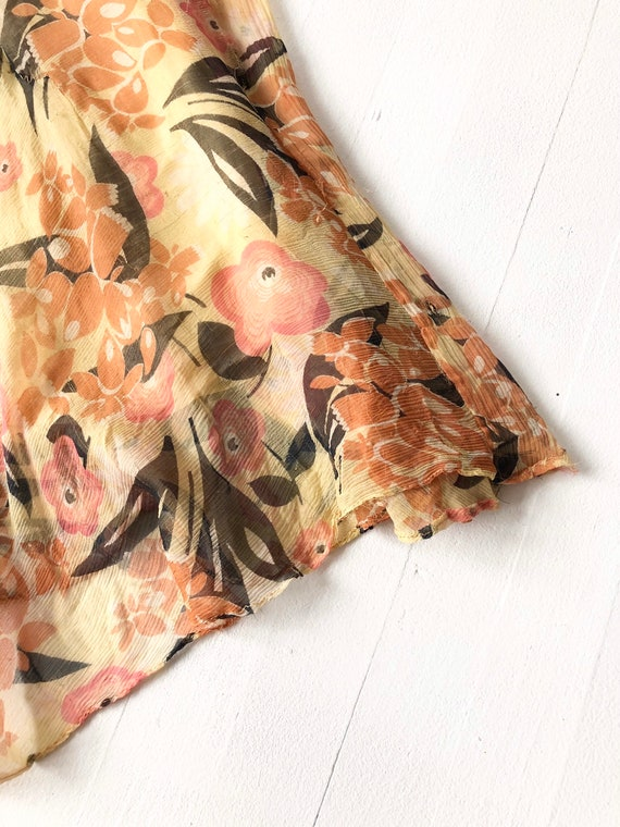 1930s Floral Silk Chiffon Dress AS IS - image 4