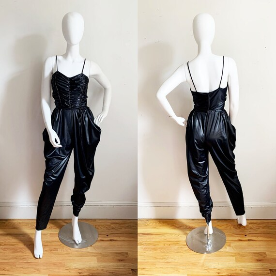 1970s Wet Look Jumpsuit